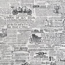 3D Wallpaper For Room Retro Black And White Newspaper Background In
