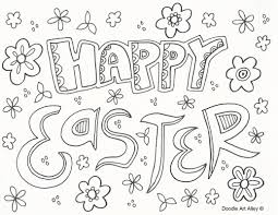 Happy Easter Coloring Pages Mesinco