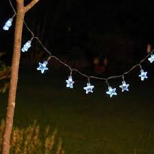 30 Light 13 Ft White Stars Solar String