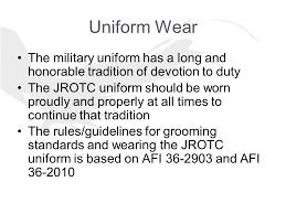 uniform wear le i chap wando jrotc wear uniform on every tuesday
