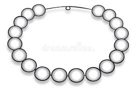 Pearl necklace stock vector Illustration of t necklace