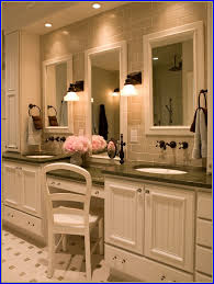 60 bathroom vanity with makeup area bathroom home design ideas