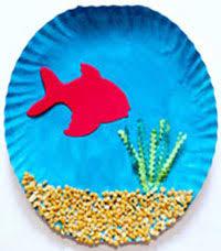 Art Craft Paper Plate Fish Tank