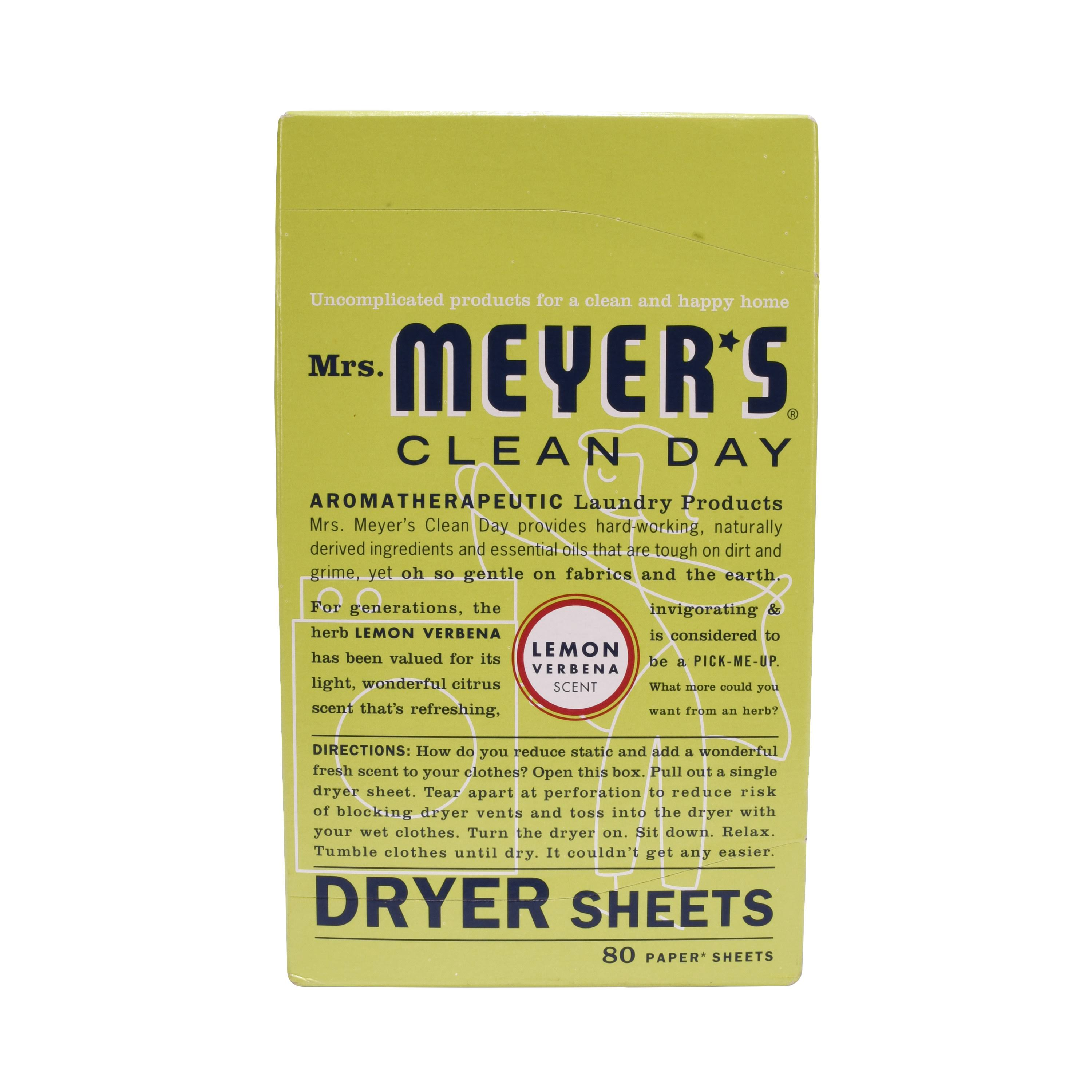 Clean Day Dryer Sheets - Lemon Verbena, 80ct