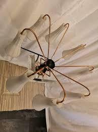 50er sputnik kupfer antik wohnzimmer deckenleuchte le vintage
