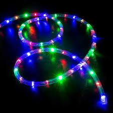 50 Multi Color RGB LED Rope Light Home Outdoor Christmas