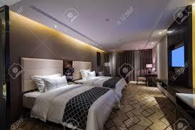 luxus hotel schlafzimmer mit schönen dekoration