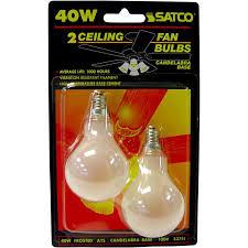 2pk satco s2741 40w 120v a15 frosted e12 candelabra base