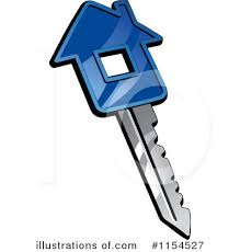 Royalty Free RF House Key Clipart Illustration 1154527 By Vector Tradition SM