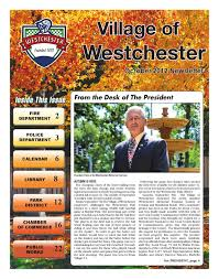 West Chester Halloween Parade Rain Date by Village Of Westchester October 2012 Newsletter By Village Of