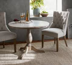 Furniture Beautiful Pottery Barn Pedestal Table 29 Excellent Alexandra Marble Dining Pertaining To Ordinary Outstanding
