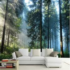 Beibehang Custom Painting Living Room Natural Forest Wall Art Photo Background Photography Bedroom Murals 3d Wallpaper