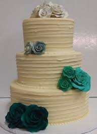 3 Tier Wedding Cake With A Horizontal Rustic Finish Classic Minimalistic