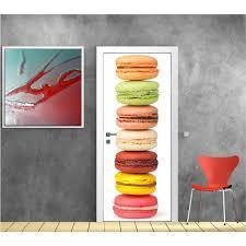 sticker porte cuisine affiche poster pour porte cuisine macaron réf 9511 dimensions