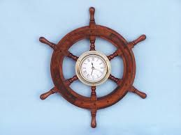 Sailboat Wheel Wall Decor by Ship Wheel Clock 12