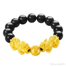 100 Where Is Dhgate Located Huilin Jewelry Lucky Money Bracelet Imitation Gold Obsidian Vietnam