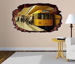 3d wandtattoo metro station zug bahn berlin selbstklebend wandbild wohnzimmer wand aufkleber 11m1853 wandbild größe f ca 97cmx57cm