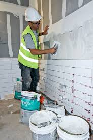 installing large format ceramic tile and construction canada