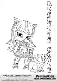 Monster High Rochelle Goyle Coloring Page