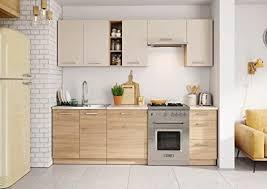 komplett küche 1 8 2 4m schränke mit arbeitsplatte