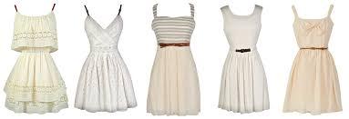 lovely rehearsal dinner dresses in shades of white ivory cream