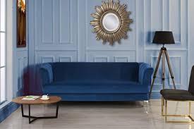 elegantes klassisches wohnzimmer sofa aus samt in den farben blau grün grau rot large blau