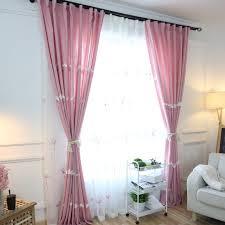 rideau pour chambre fille fille drapé rideaux brodé rideau court pour rideau de chambre