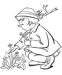 Print Spring Coloring Pages Free