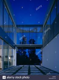 100 Residence Bel Air Oshry California Exterior At Dusk Showing Stock
