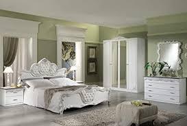 lignemeuble vitoria barock schlafzimmer set weiß und silber
