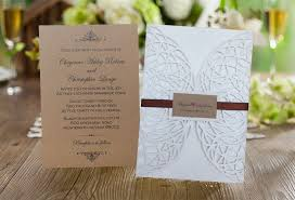 Rustic Wedding Invitation Laser Cut Wrap Invitations Pocket Elegant Set Of 50 In Cards From Home Garden On