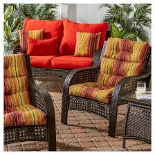 High Back Patio Chair Cushions by Greendale Home Fashions Outdoor High Back Chair Cushion Target