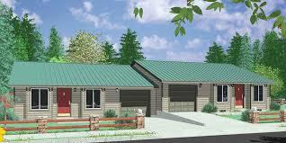 Ranch House Floor Plans Colors Single Level Duplex House Plans 2 Bedroom Duplex With Garage