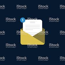 Angry Emoji En La Notificación De La Carta Vector De Stock