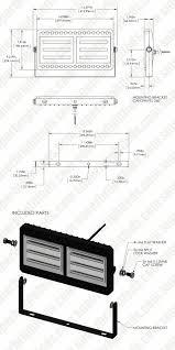 Ingress Heat Sink Calculator by 100 Watt Led Flood Light Fixture Low Profile 9 300 Lumens