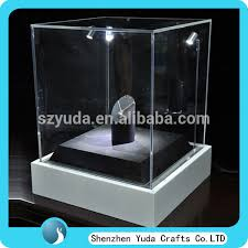 Acrylic Led Light Display Case For Jewelry Shop Handmade Box With