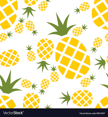 Pineapple seamless pattern Royalty Free Vector Image