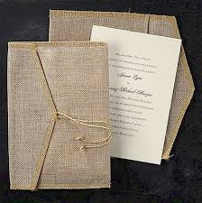 Positively Rustic Wedding Invitation Comes With A Burlap Envelope