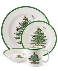 Spode Christmas Tree Mugs With Spoons by Spode Christmas Tree 4 Piece Place Setting Fine China Macy U0027s