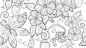 Free Printable Coloring Pages Adults Flower For Butterflies And Flowers Page