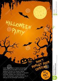 Free Halloween Flyer Templates halloween party flyer template orange and black stock vector