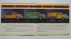 1938 GMC Light-Duty Truck Foldout Brochure3/4-Ton 1-Ton 1-1/4 Ton ...