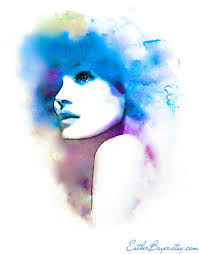 Violet And Blue Hues Watercolor Fashion By EstherBayer On Etsy