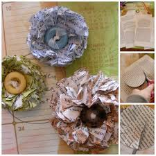 How To Make A Paper Flower From Newspapers