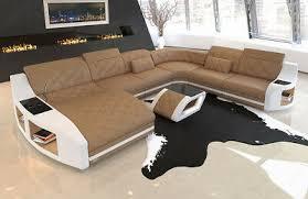 sofa dreams wohnlandschaft leder apollonia mit ottomane und