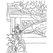 The Extinguishing Fire Coloring Pages