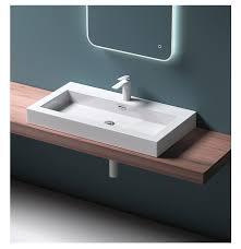 lange schmale toilette freistehendes badezimmer becken kleines waschbecken arbeits platte waschbecken kunststein einloch modernes design ce buy