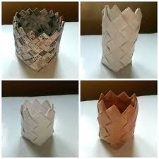 Paper Craft Step By Recycled Baskets Instructions Pdf