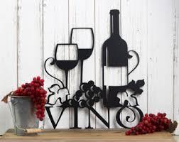 wine decor etsy