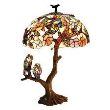Tiffany Style Lamps Canada by Amazon Com Chloe Lighting Ch19b441dt 3 Light Birds Harmony Table